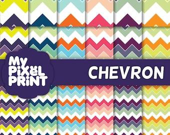 Chevron madness - Digital Scrapbooking Paper Pack - My Pixel Print