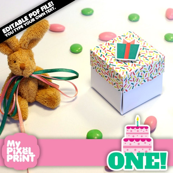 Girl First Birthday Invitation One Year DIY