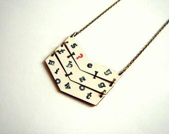 Chevron Necklace, Wood Geometric  Necklace, Necklace,Geometric Jewelry