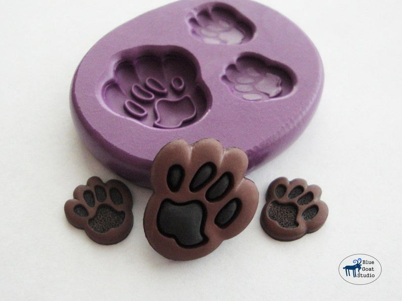Paw Print Mold - Animal Molds - Silicone Molds - Kids Crafts - Polymer Clay  Resin Fondant