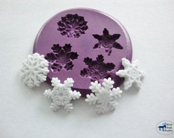 Snowflake Mold - Winter Snowflakes - Silicone Molds