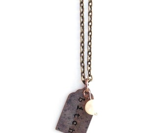 Bitch Hand-Stamped Necklace... Sweet & Spicy