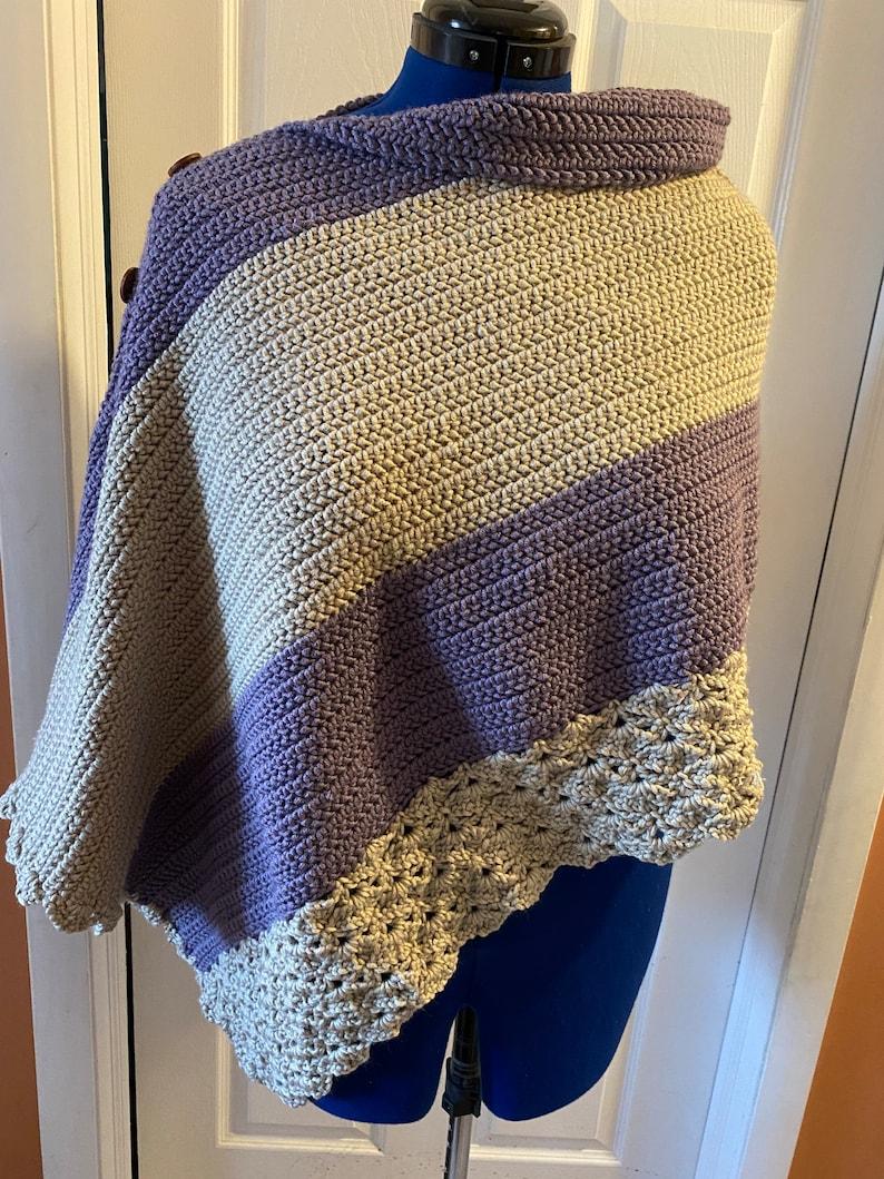 Handmade Crocheted Uptown Poncho