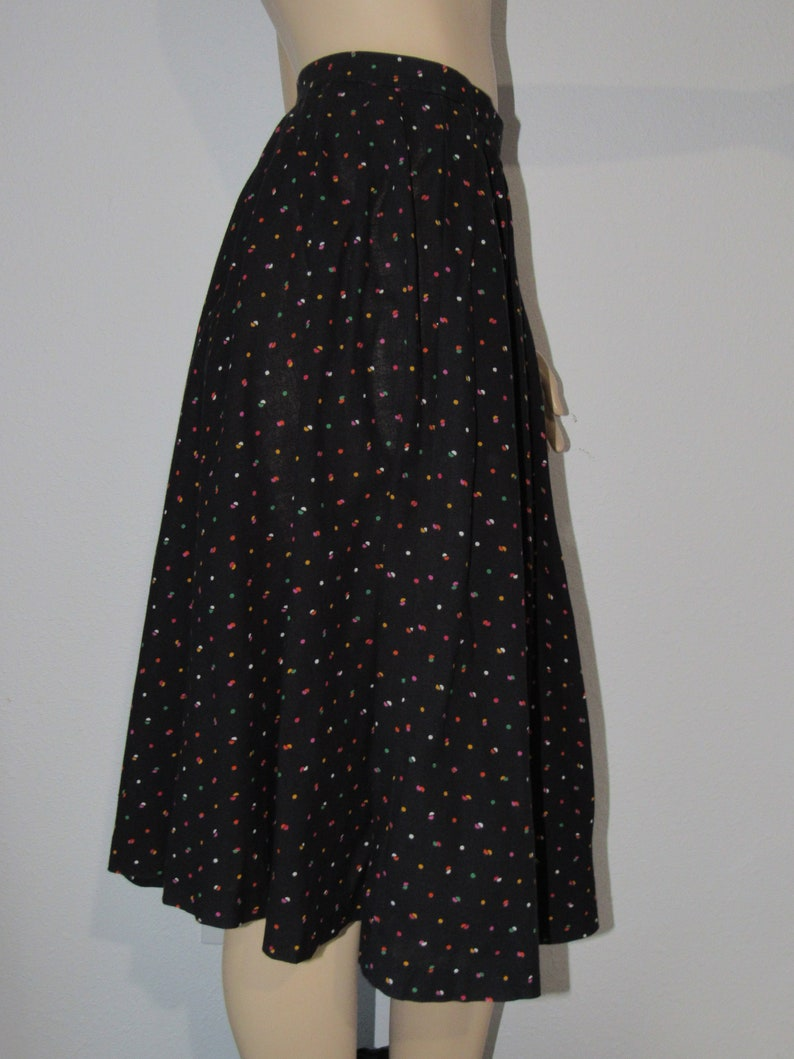 Vintage 60s Atomic Print Full Circle Skirt Pin UP 60s Does 1950s Pleated Skirt  26