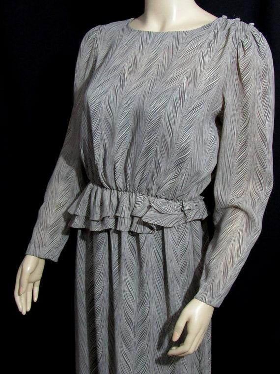 Vintage 80s Abstract Print Sheer Dress Nylon Modes
