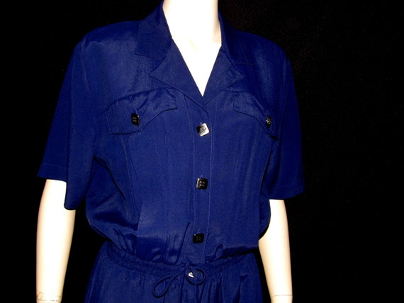80s Saint Germain Paris Jumpsuit Large Pantsuit Bu