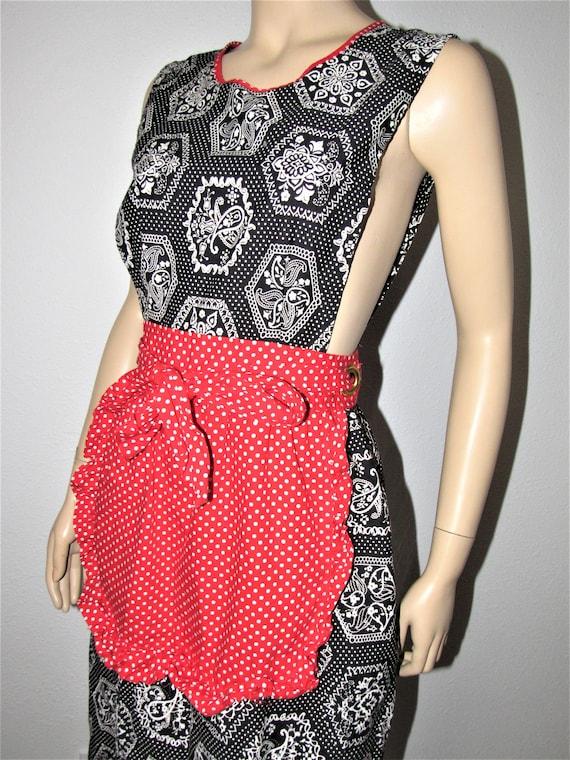 Vintage 70s Apron Dress Made in Japan