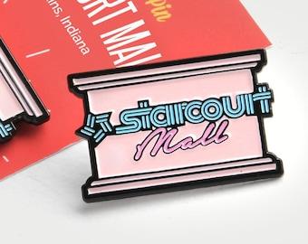 Stranger Things Starcourt Mall - enamel pin lapel pin