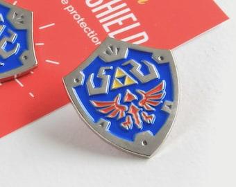 Hylian Shield - Enamel Pin - Zelda Game lapel pin