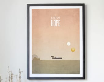 Star Wars Minimalist Poster - A New Hope