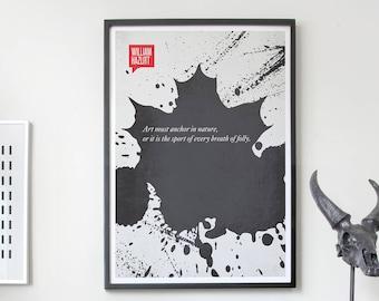 Poster Quote, Literary Quote, Art Print, Minimalist Poster, Quote, Illustration, Minimalist Quotation Print - William Hazlitt