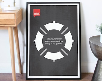 Poster Quote, Literary Poster, Art Print, Quote, Minimalist Quotation Print - Voltaire