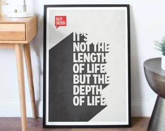 Poster Quote, Literary Quote, Art Print, Minimalist Poster, Quote, Illustration, Minimalist Quotation Print - Ralph Waldo Emerson