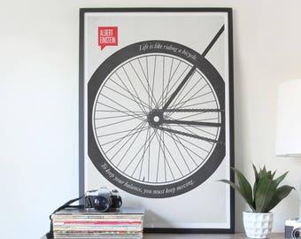 Poster Quote, Literary Quote, Art Print, Minimalist Poster, Quote, Illustration, Minimalist Quotation Print - Albert Einstein