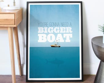 Jaws - Classic Movie Print