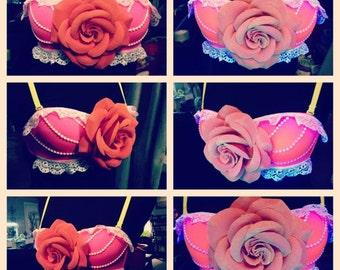 The Mari Mar pink flower bra