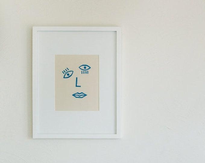 Confetti Face - Print - 8x10