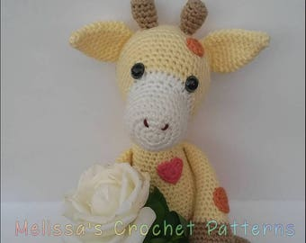 Crochet Pattern - Bubbles the Baby Giraffe