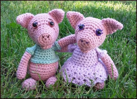 Crochet Pattern ~ Mr. and Mrs. Piggy