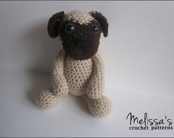 Crochet Pattern - Pugsley the Pug Puppy