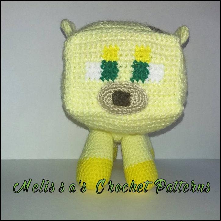 Crochet Pattern Minecraft Ocelot Etsy