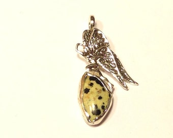 Sterling Silver Fairy Pendant with stone