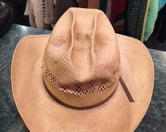b912f502865 Straw Cow Boy Men 1950 s Hat