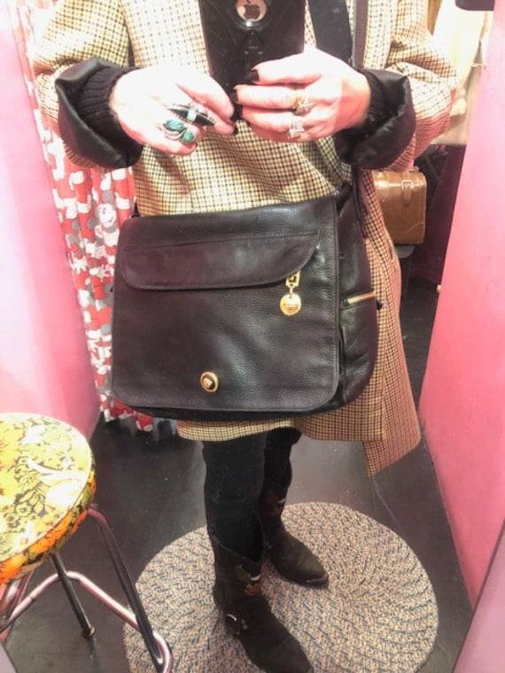 Gianni Versace Black Cross body Leather Bag