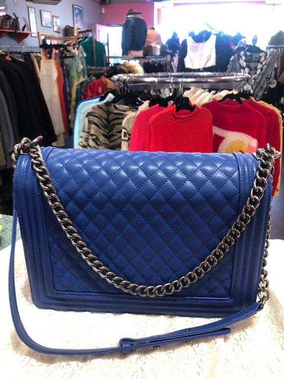 Bright Blue Designer Style Bag Cross body