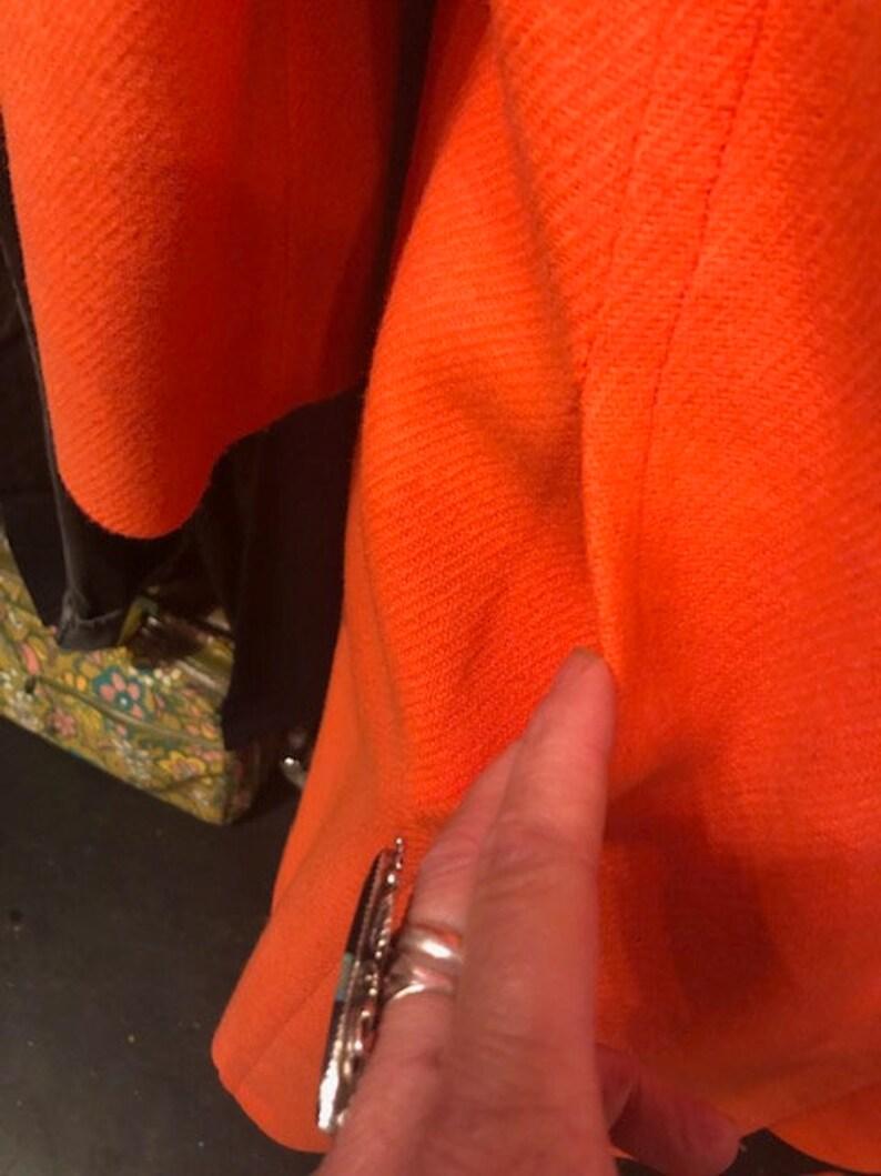 1960/'s Neon Orange Wool Coat