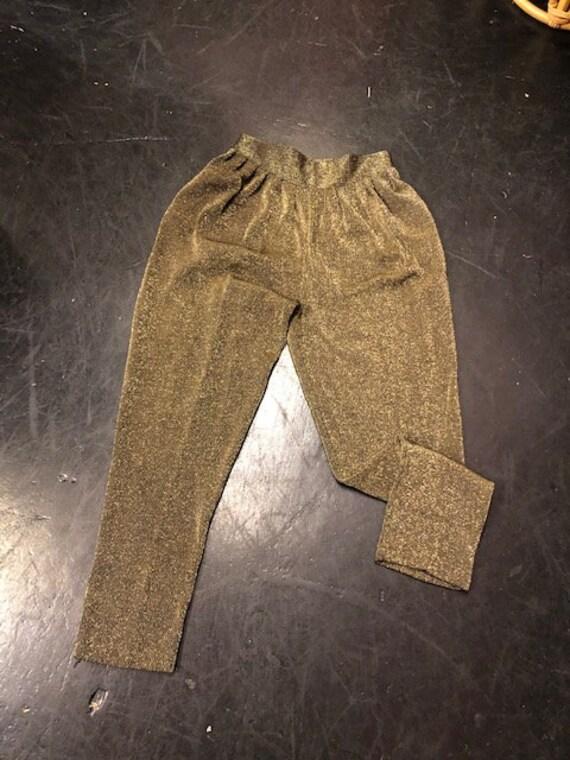 Gold Pants High Waist
