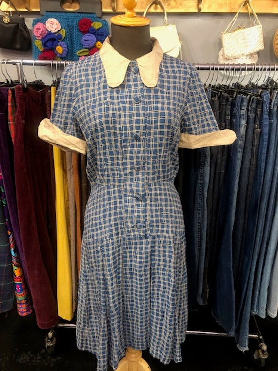 1940's Blue Dress