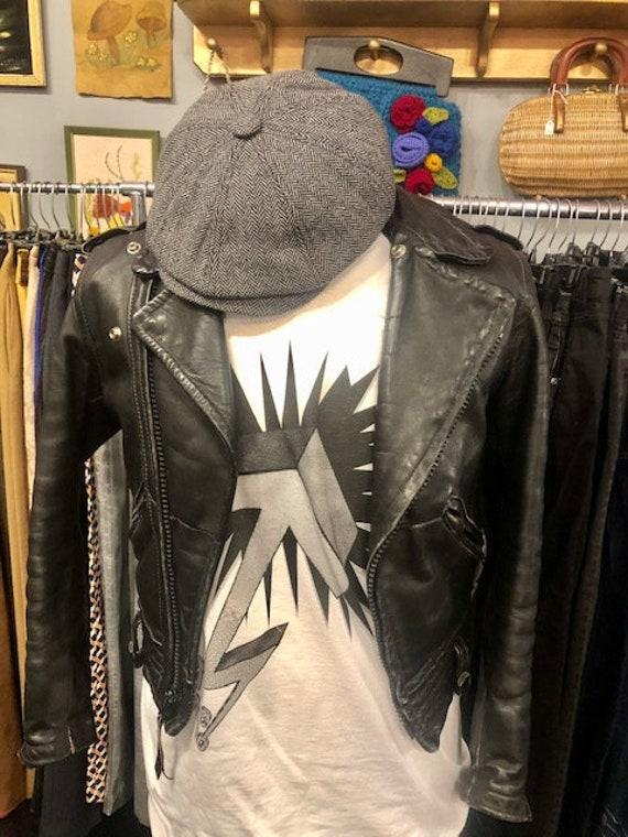 Unisex Motorcycle Black leather Jacket