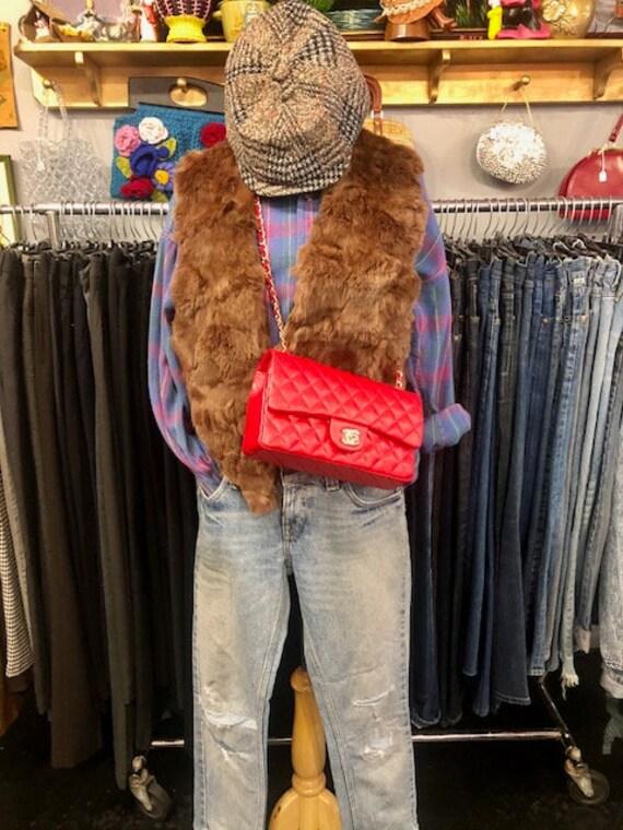 Designer Caviar Leather Red Cross Body Bag