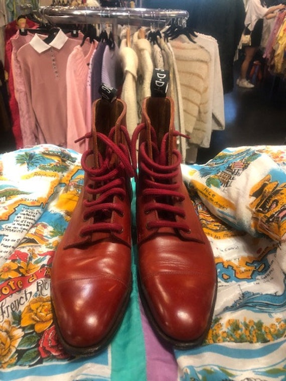 John Fluevog Brown Lace up Boots