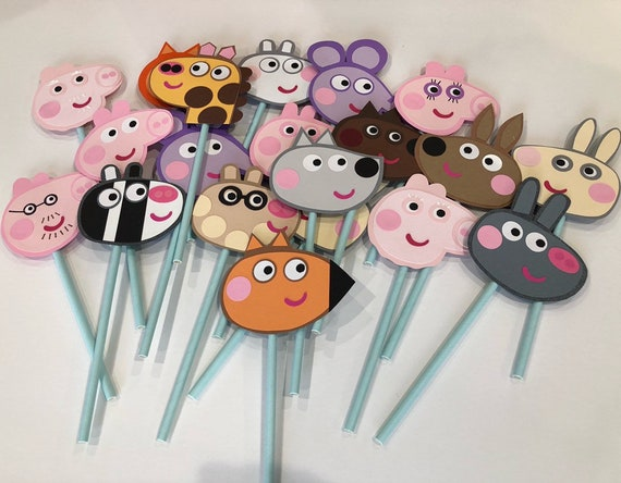 Marvelous Peppa Pig Party Decorations Peppa Pig Birthday Peppa Pig Cupcake Funny Birthday Cards Online Overcheapnameinfo