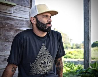 Sacred Pyramid Organic T-shirt ~ Made in the USA.