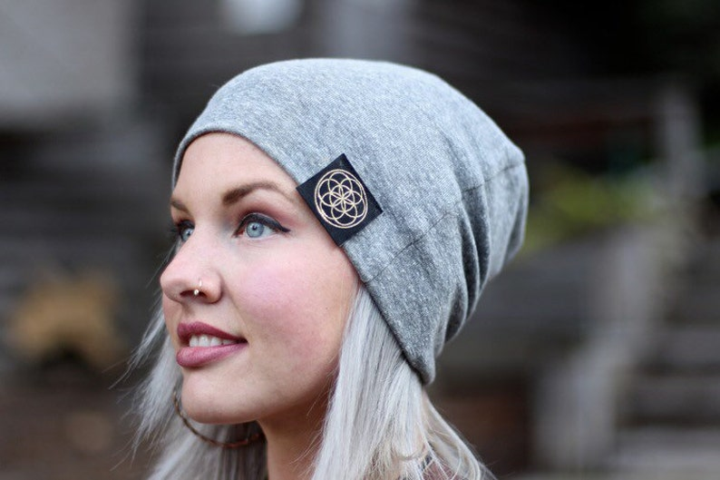 Organic made in the USA sacred beanie. image 0