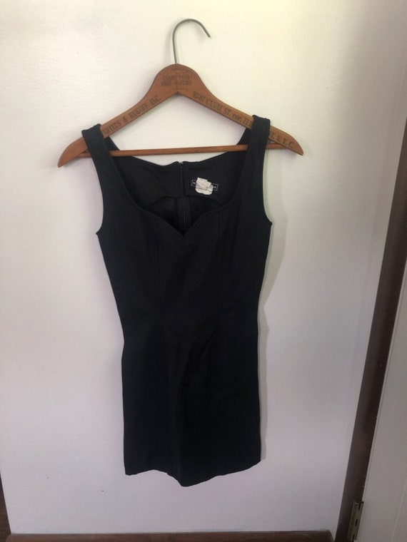 Vintage Little Black Dress Made in USA Designer Ma