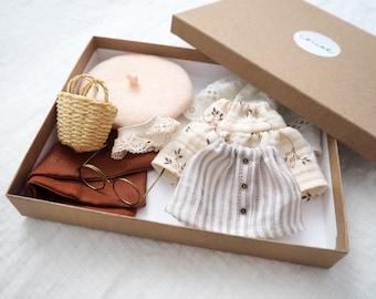 Wardrobe for miniature dolls handmade doll clothes