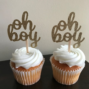 Baby Shower Theme Party Decorations It/'s a Boy Cupcake Toppers DP584 Favors Instant Download Printable Tags