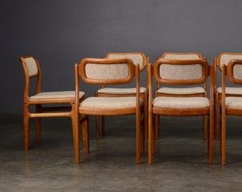8 Danish Modern Dining Chairs Uldum Teak