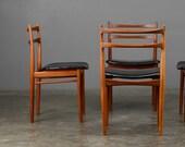 4 Mid Century Dining Chairs Rosengren Hansen Teak Danish Modern