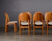 8 Vintage Danish Modern Dining Chairs Teak Glostrup