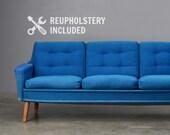 8ft Mid Century Sofa Couch Danish Modern