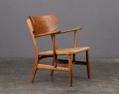 Hans Wegner CH22 Lounge Chair Oak Mid Century Danish Modern