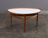 Finn Juhl Eye Table Coffee Table Walnut and White Laminate One Collection