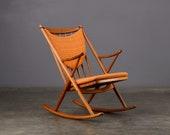 Frank Reenskaug Rocking Chair Danish Modern Teak
