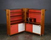 Vintage Dry Bar Cabinet Mid Century Danish Teak