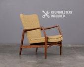Mid-Century Kurt Olsen Lounge Chair Danish Modern Slagelse Model 215